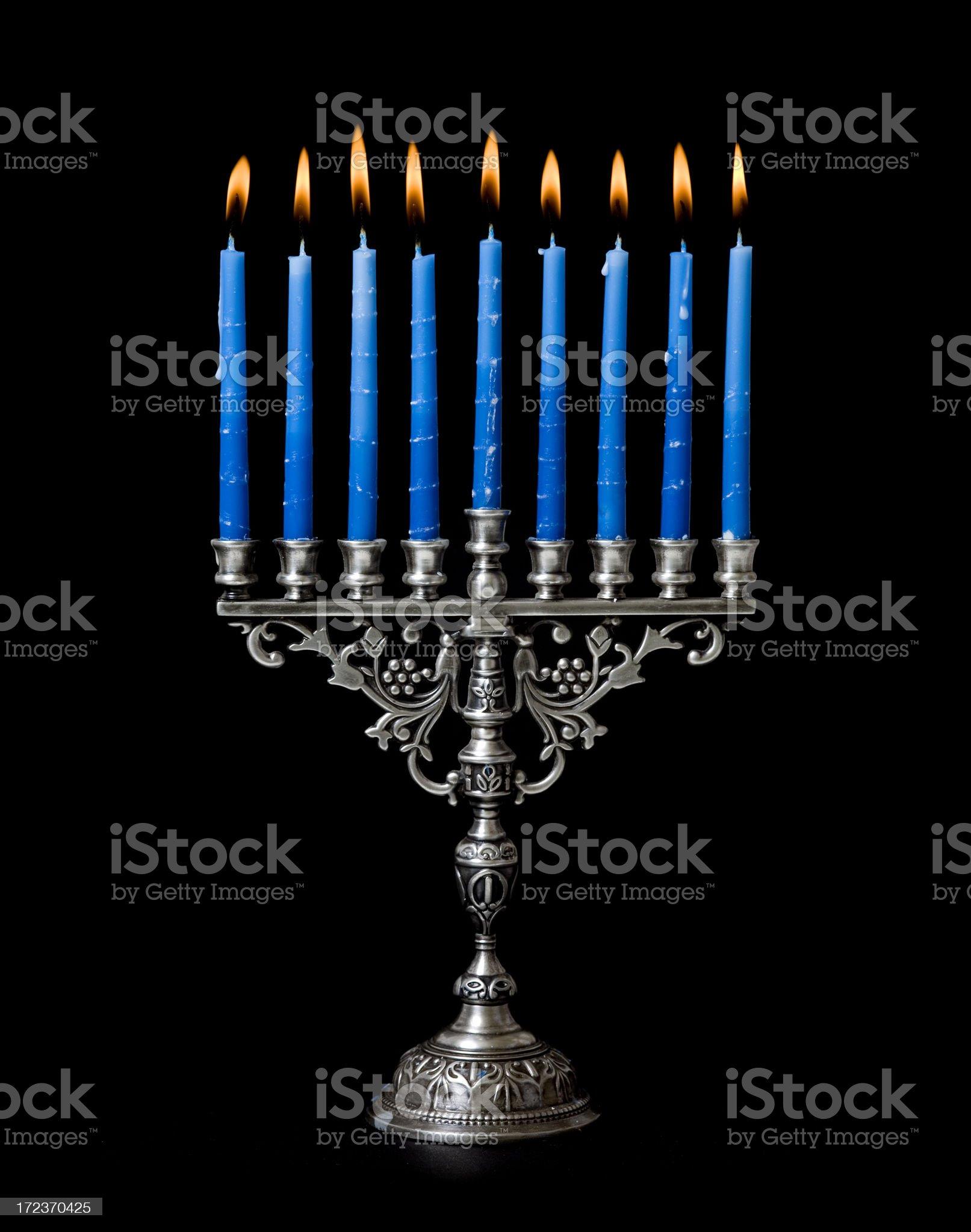Hanukkah Menorah royalty-free stock photo