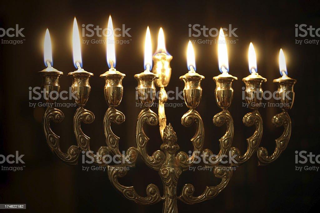 Hanukkah Menorah stock photo