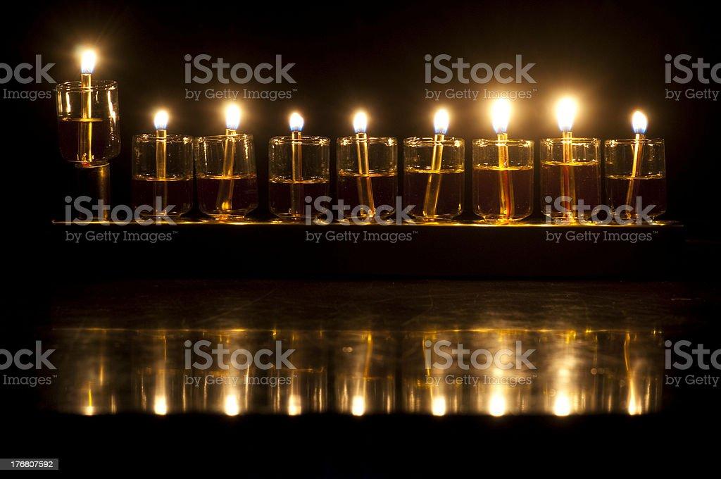 Hanukkah Oil Menorah royalty-free stock photo