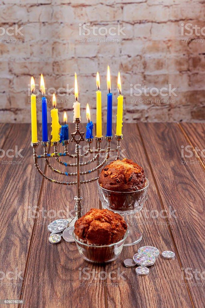 Hanukkah, the Jewish Festival of Lights  holiday stock photo