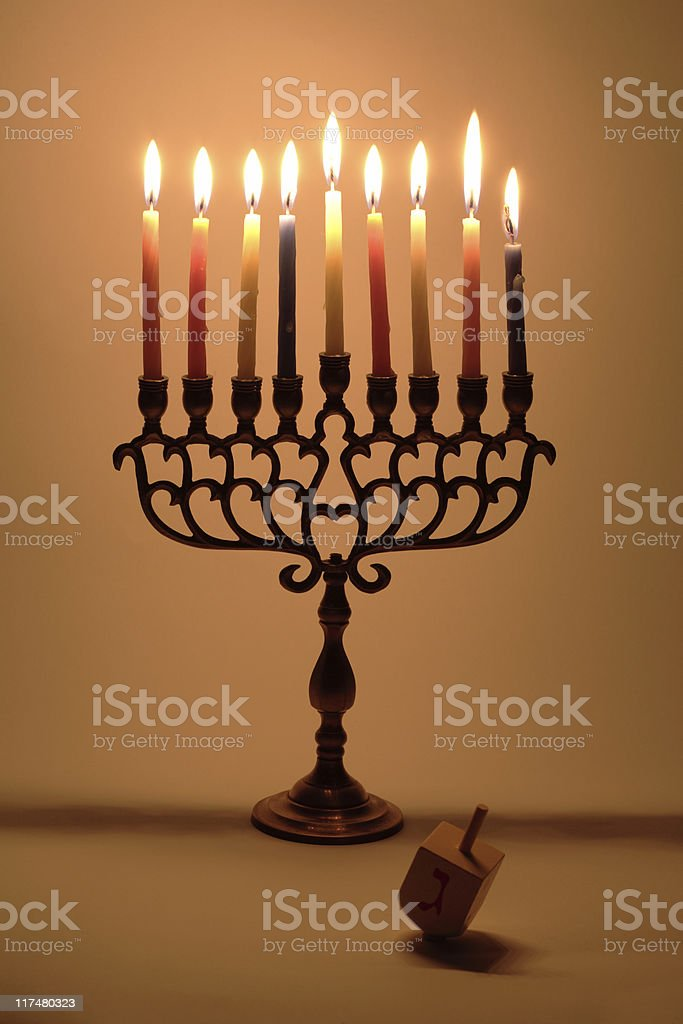 Hanukkah's Menora royalty-free stock photo