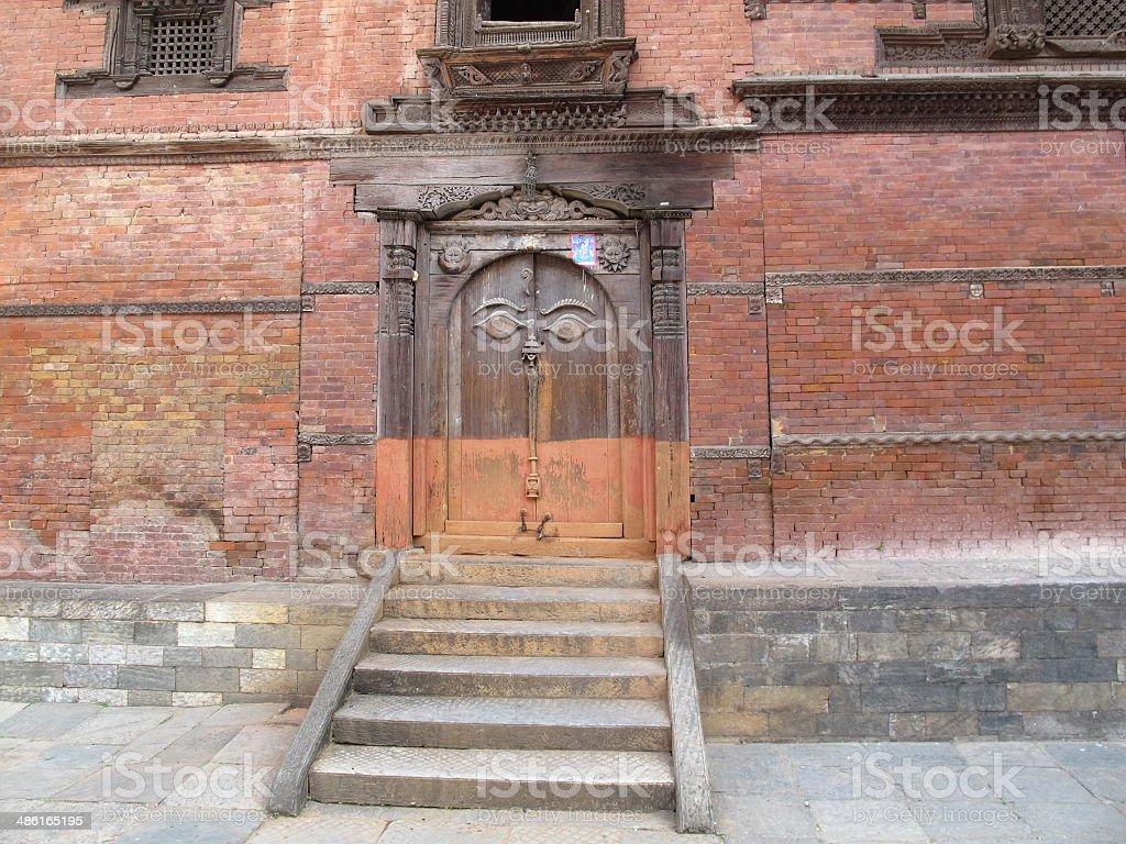 Hanuman Dhoka at Kathmandu Durbar Square Nepal stock photo