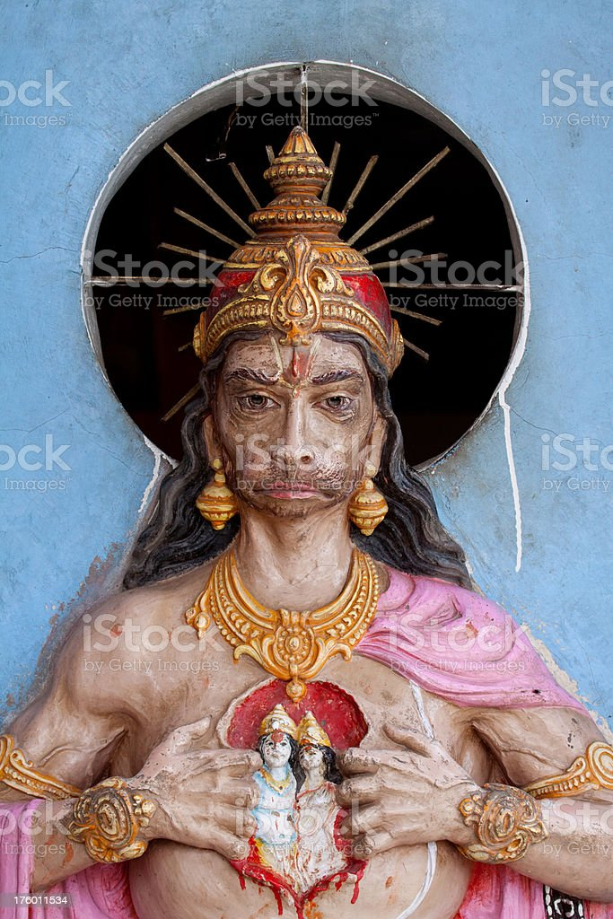 Hanuman god statue stock photo