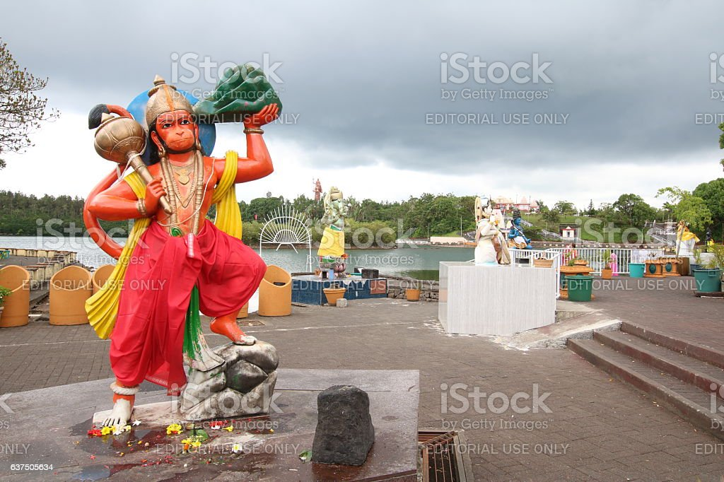 Hanuman the Monkey Deity, Grand Bassin, Mauritius, Indian Ocean, Africa stock photo