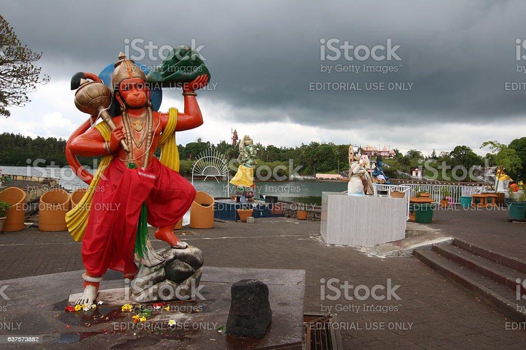 Hanuman the Monkey Deity, Grand Bassin, Mauritius, Indian Ocean, Africa stock photo