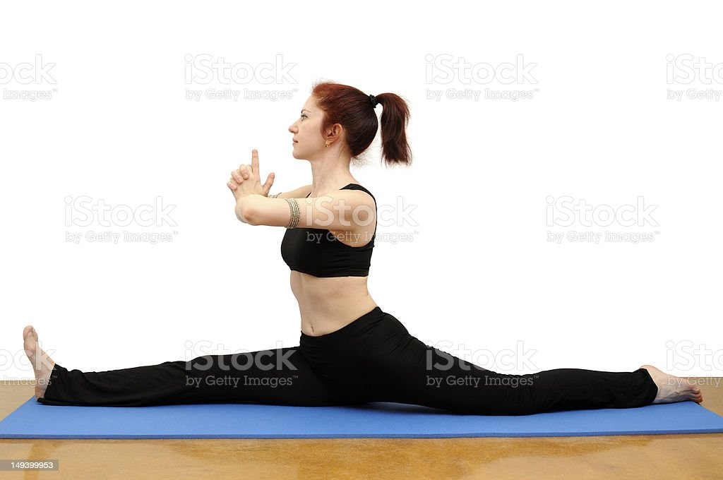Hanumanasana royalty-free stock photo
