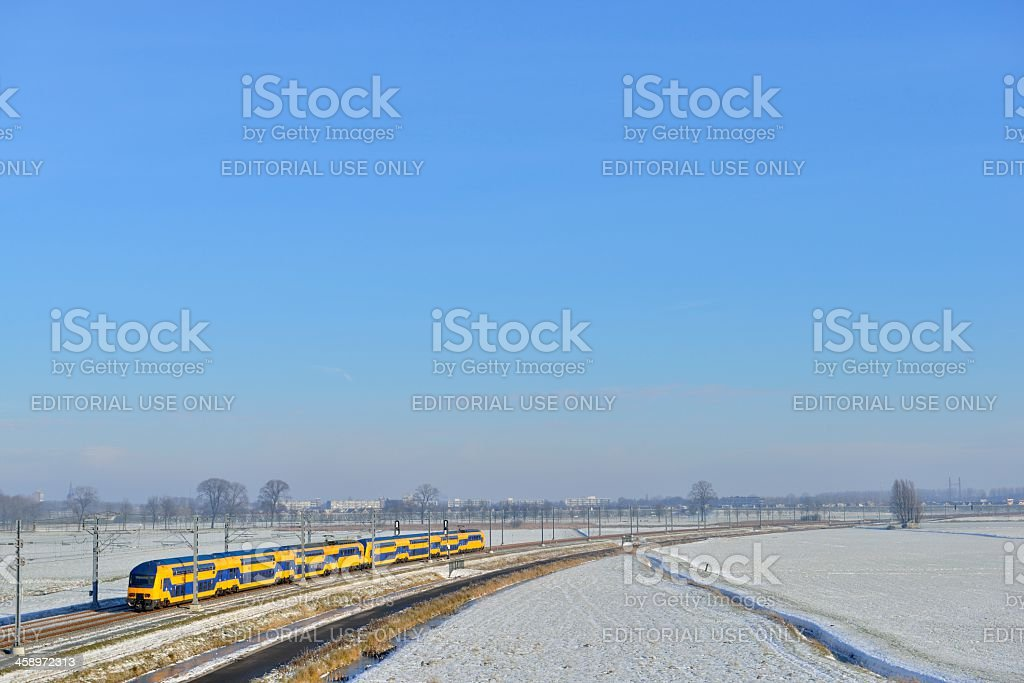 Hanzelijn railway royalty-free stock photo
