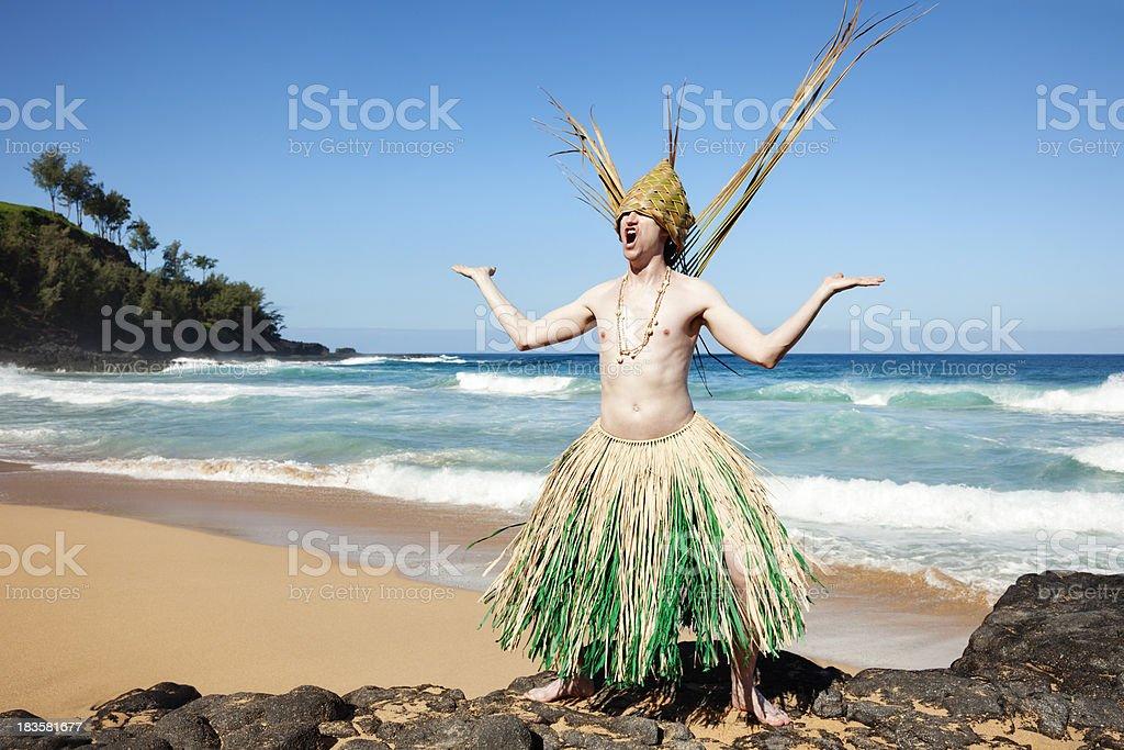Haole Warrior royalty-free stock photo