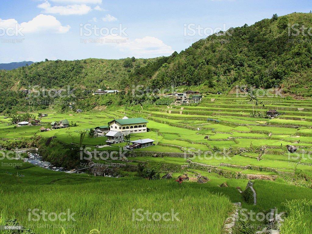 Hapao Rice Terraces Village royalty-free stock photo