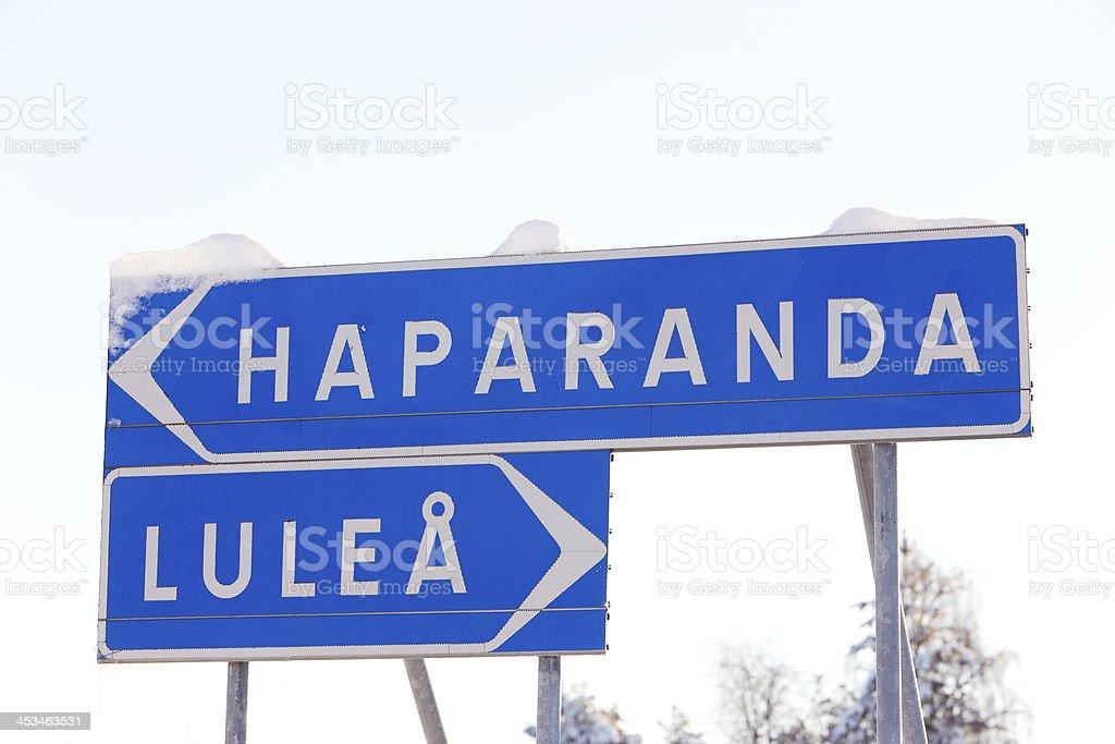 Haparanda - Lulea stock photo