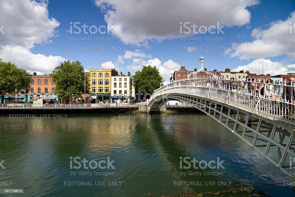 Ha'Penny bridge Dublin Ireland stock photo