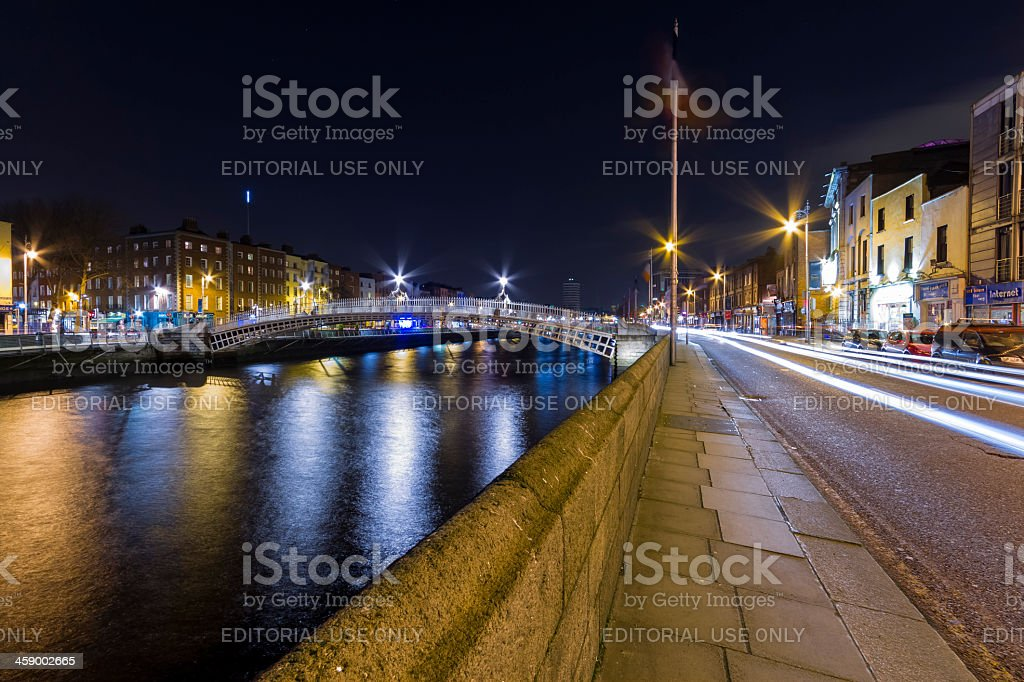 Ha'Penny bridge Dublin Ireland royalty-free stock photo