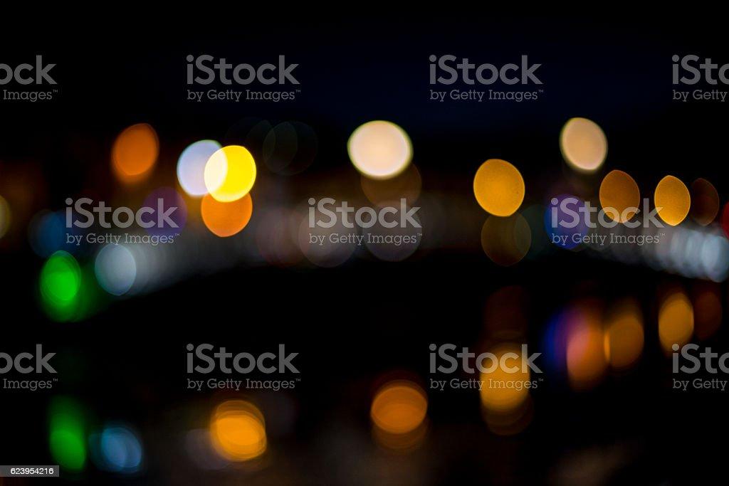 Ha'penny Bridge Dublin out of focus stock photo