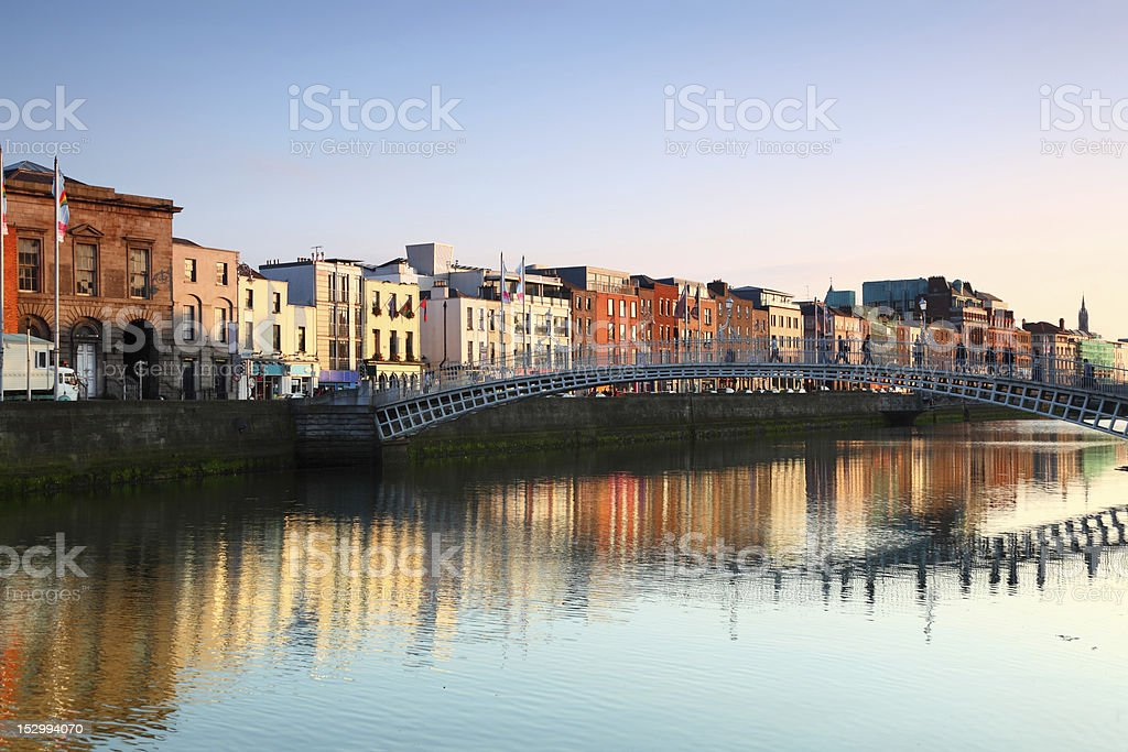 Ha'penny Bridge in Dublin royalty-free stock photo