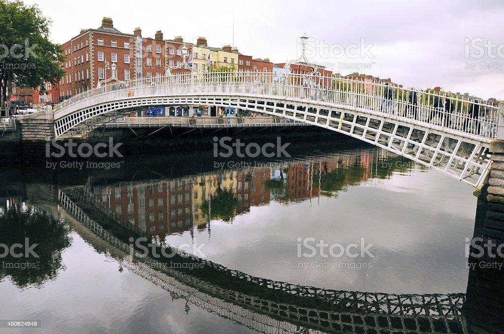 Ha'penny Bridge or Liffey stock photo