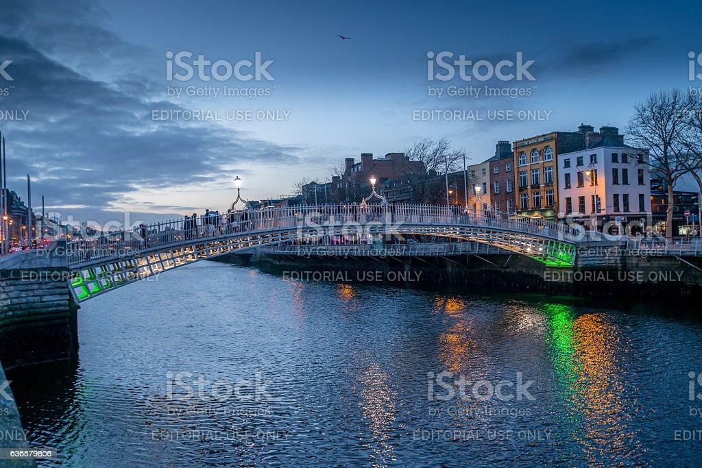 Ha'Penny Bridge stock photo