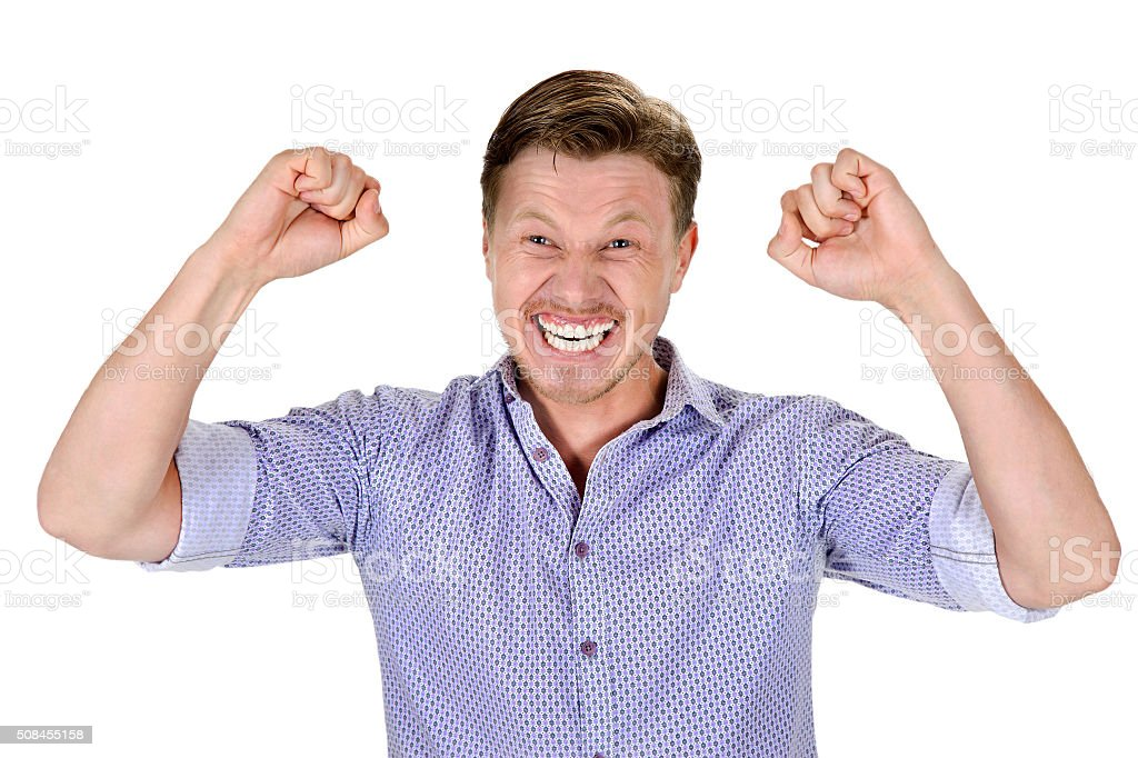 happiest a man stock photo