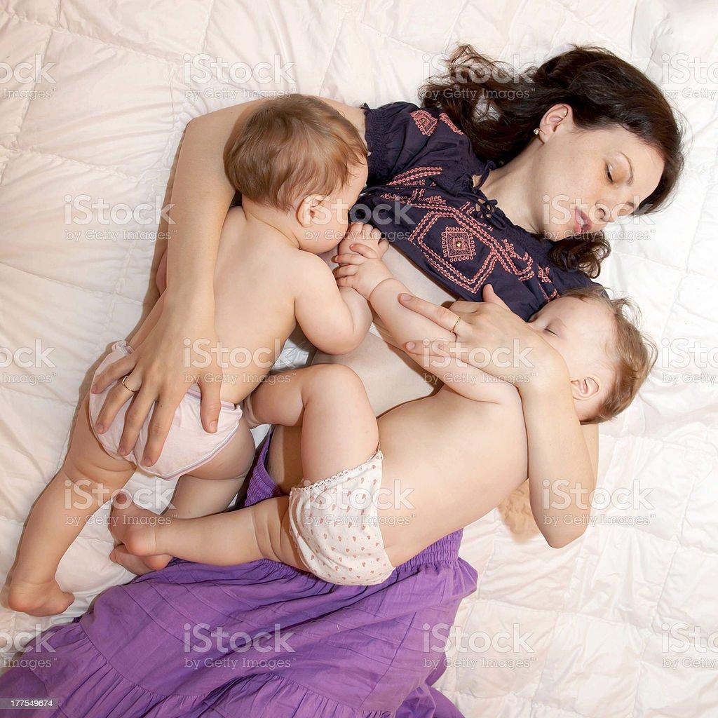Happiest moment of motherhood stock photo