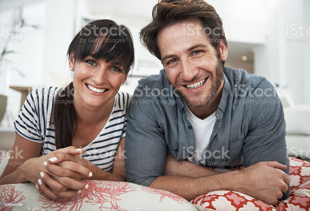 Happiest when they're together stock photo