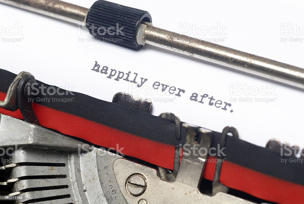 Happily ever after stock photo
