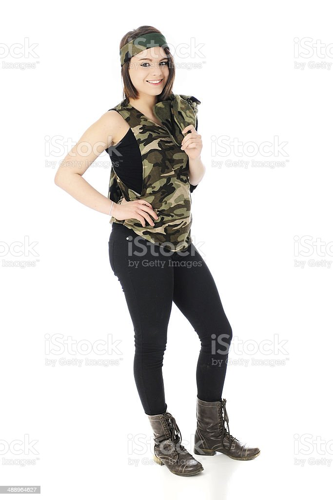 Happily in Camouflage stock photo
