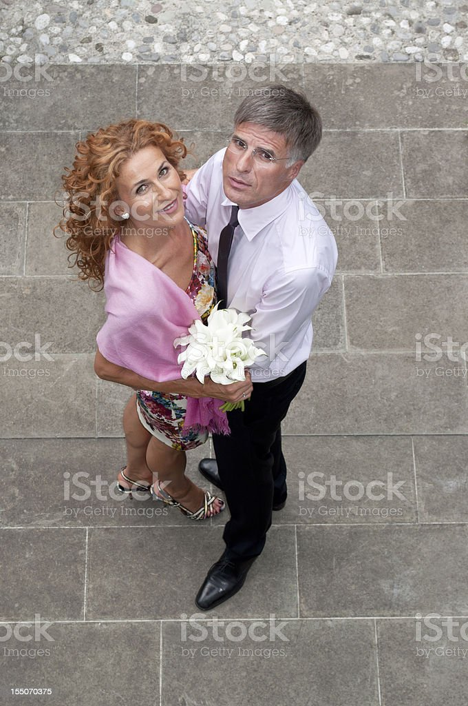Happily Married Couple royalty-free stock photo