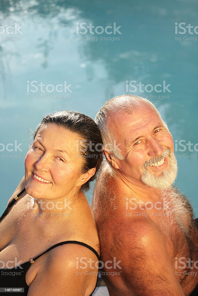 Happily retired couple royalty-free stock photo