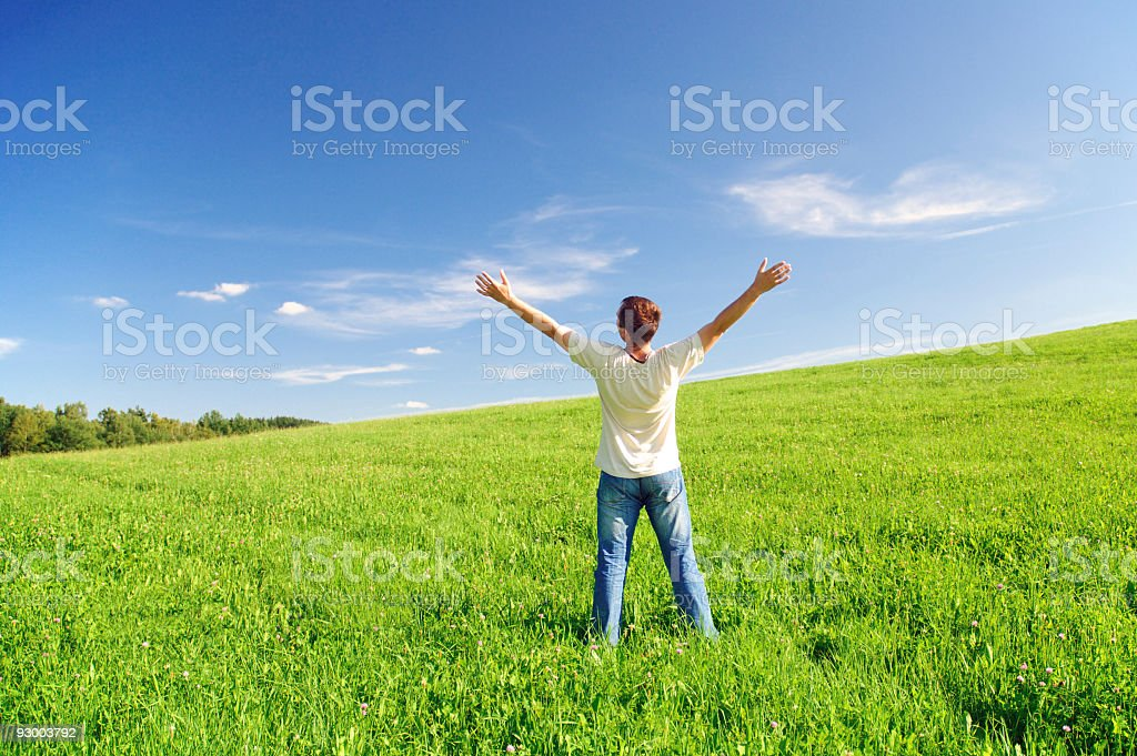 Happiness and love to nature royalty-free stock photo