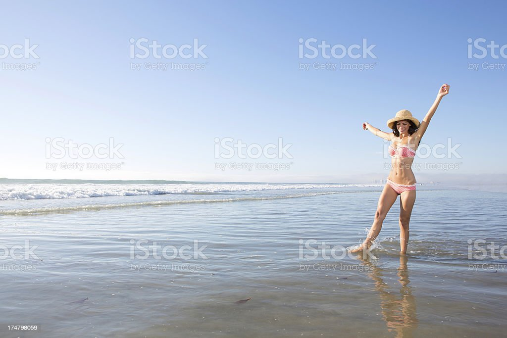 Happiness at the beach royalty-free stock photo