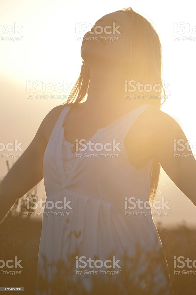 Happiness bliss and freedom concept royalty-free stock photo