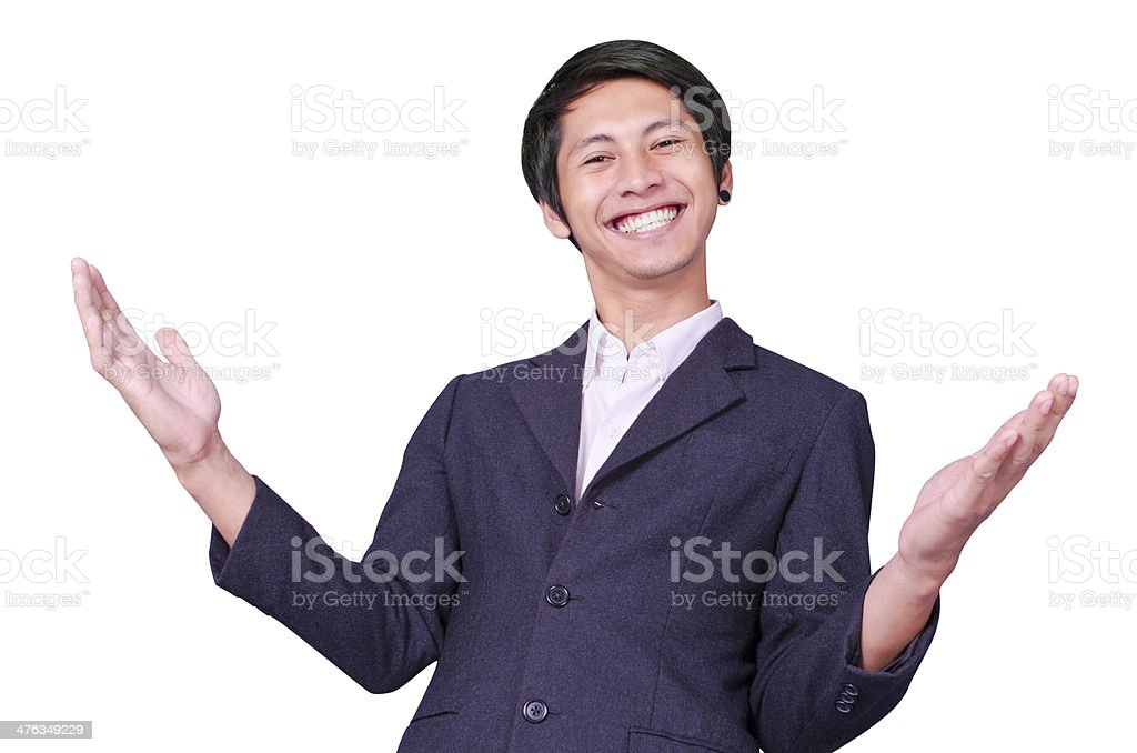 Happiness businessman royalty-free stock photo
