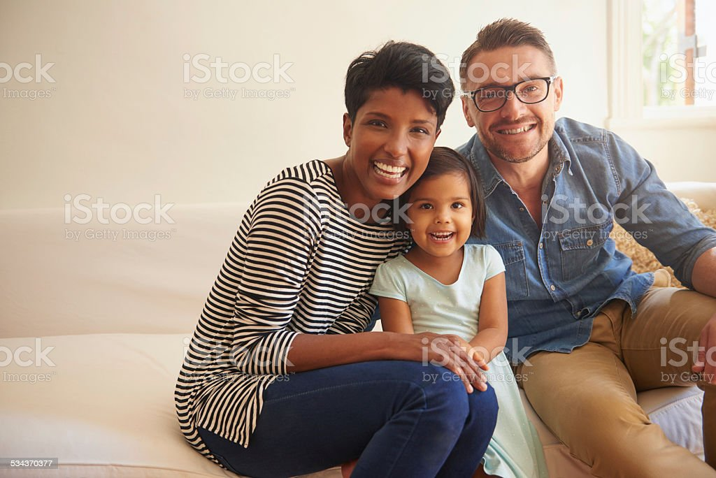 Happiness comes from family stock photo