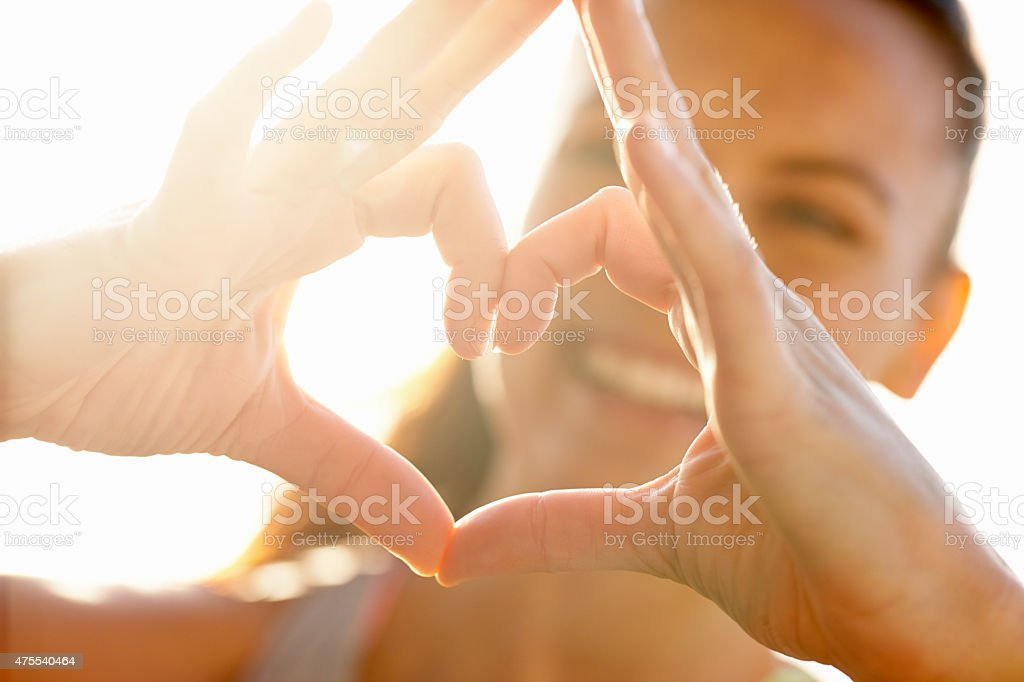 Happiness comes from within stock photo