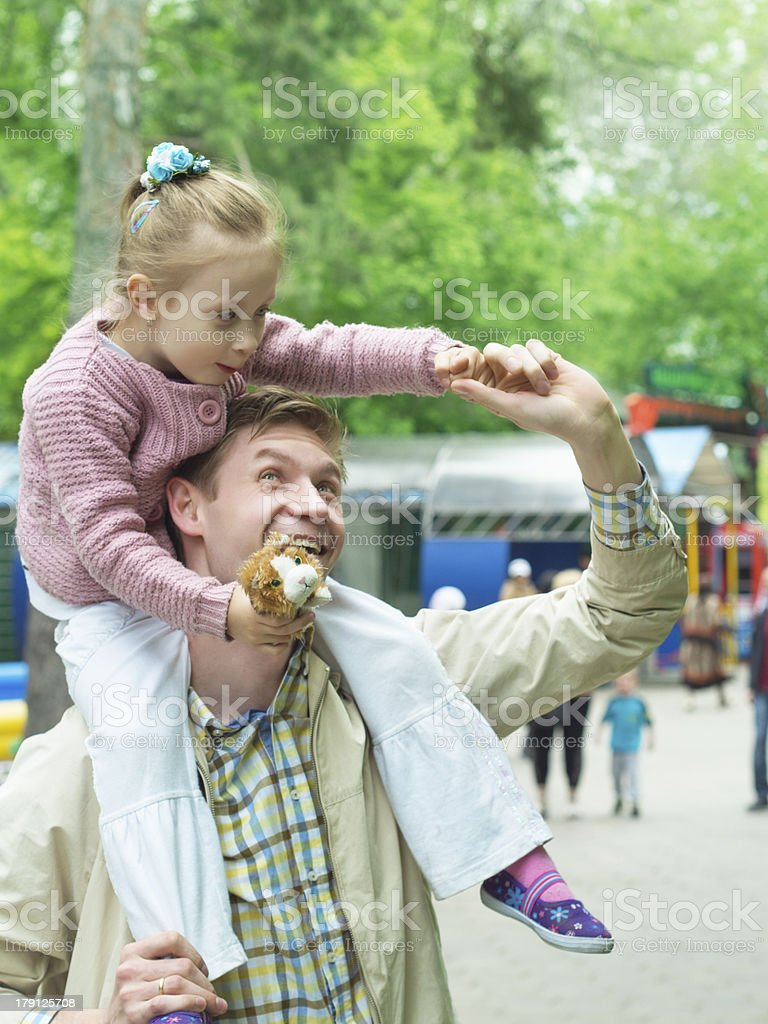 Happiness fatherhood royalty-free stock photo