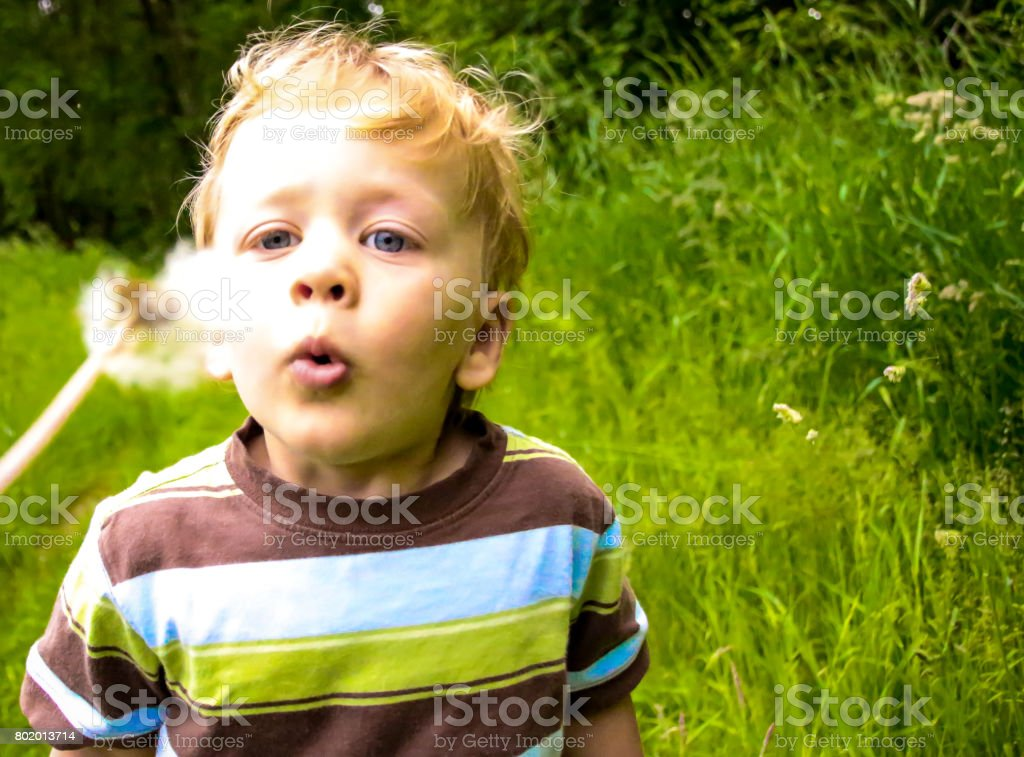 Happiness in Nature stock photo