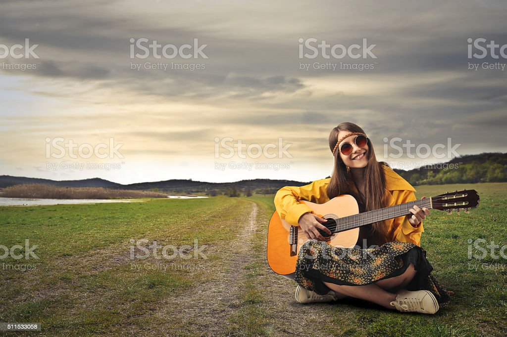 Happiness in Singing stock photo
