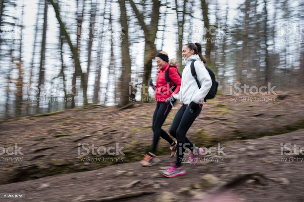 Happiness is a friend and nature stock photo