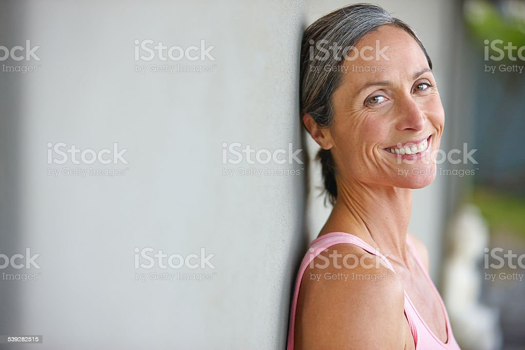 Happiness is an inside job stock photo
