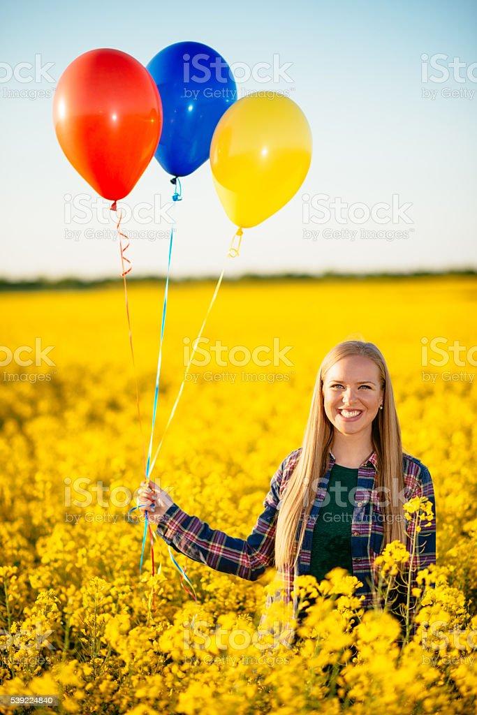 Happiness is around us stock photo