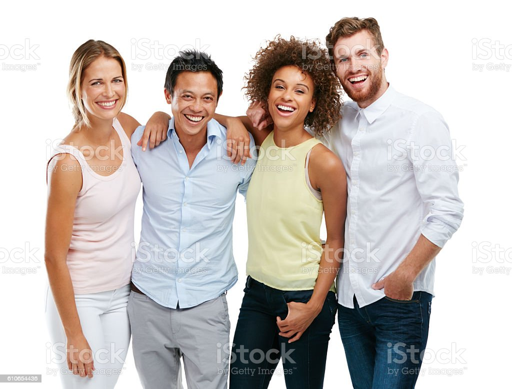 Happiness is even better when it's shared stock photo