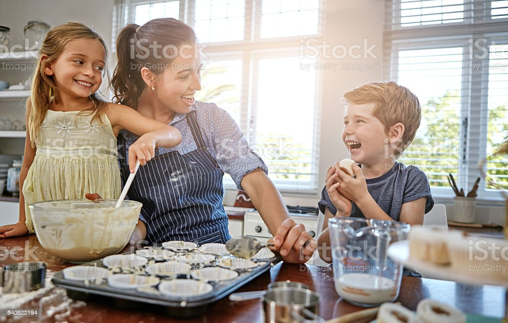 Happiness is only a cupcake away stock photo