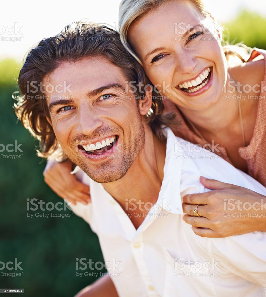 Happiness is... stock photo