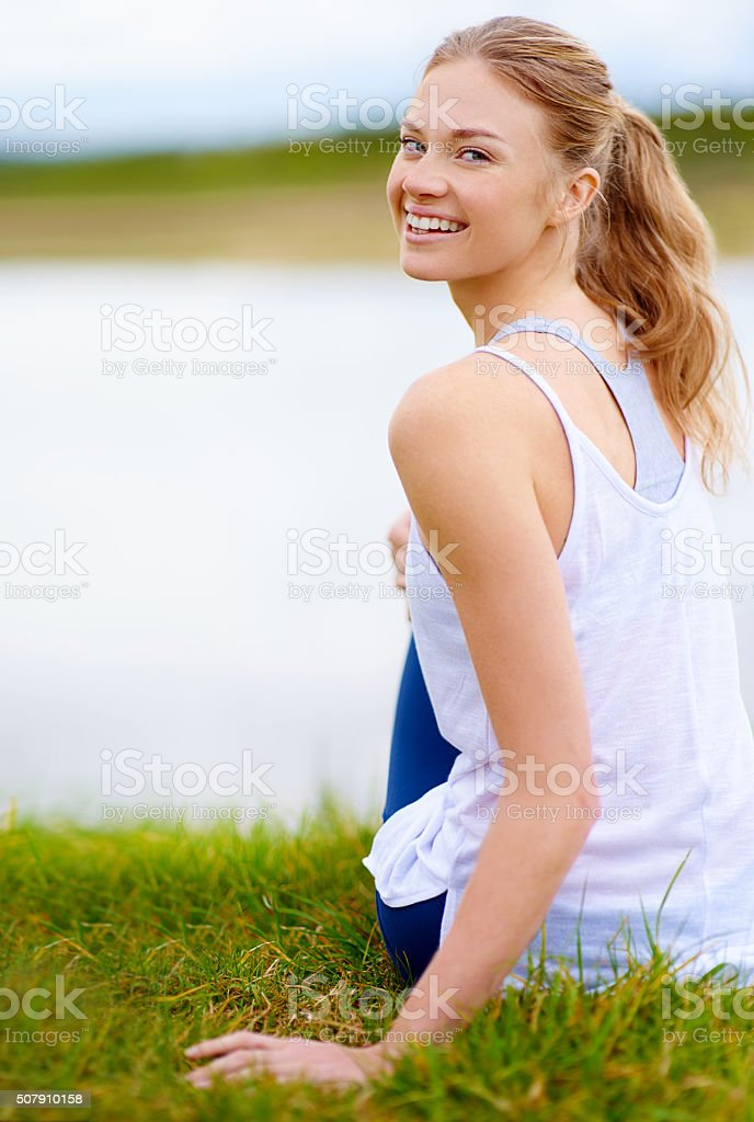 Happiness is right in front of you stock photo