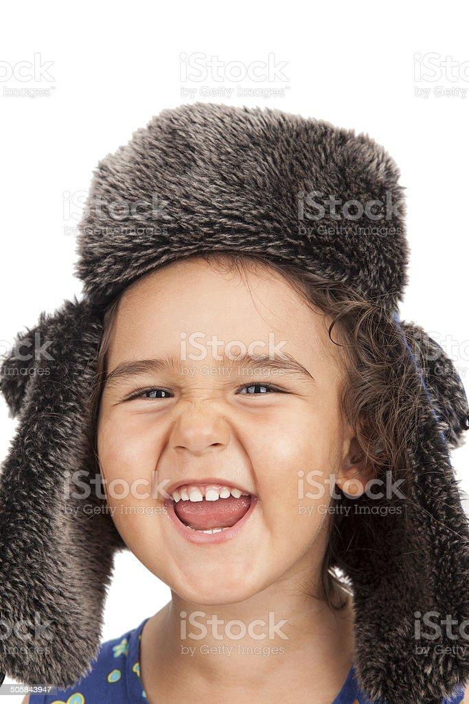 Happiness little girl stock photo