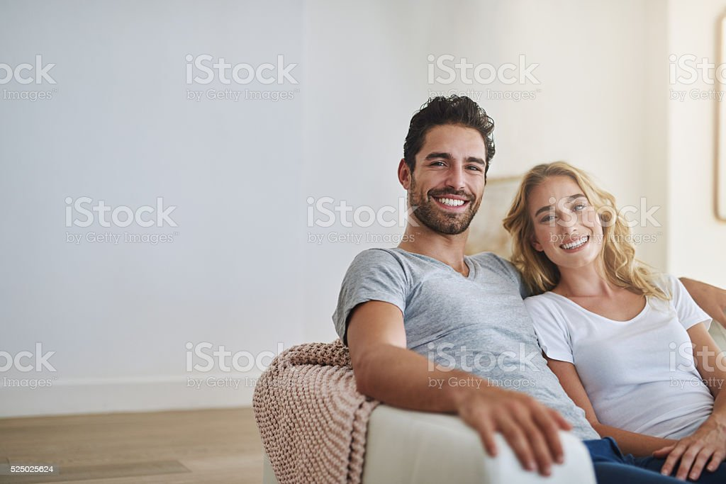 Happiness makes a house a home stock photo