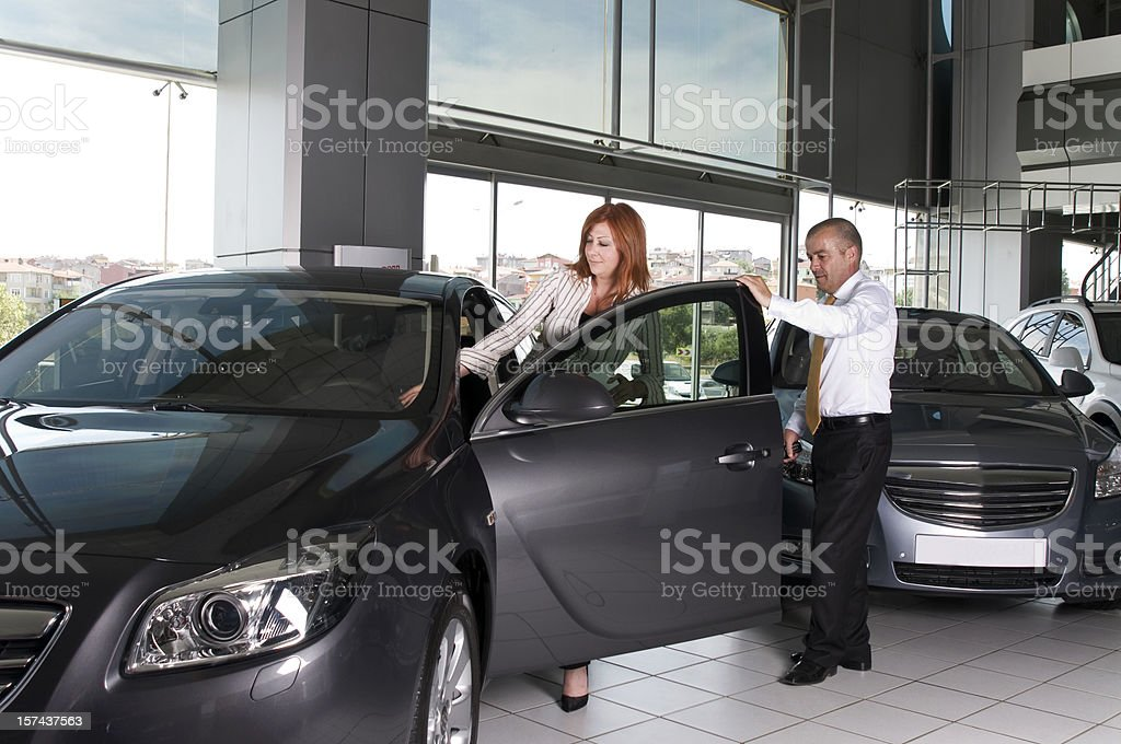 happiness of buying a car royalty-free stock photo