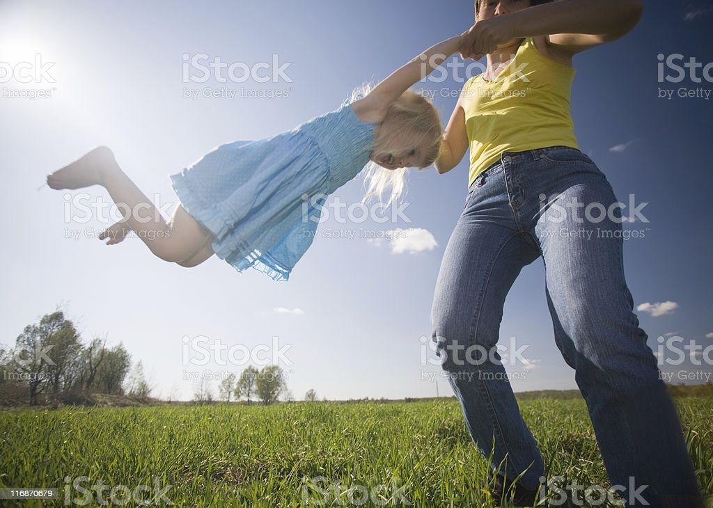 happiness of childhood royalty-free stock photo