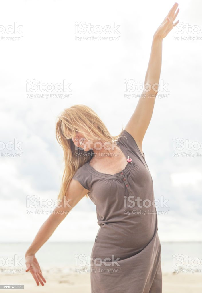 happiness on the beach,sipalay stock photo