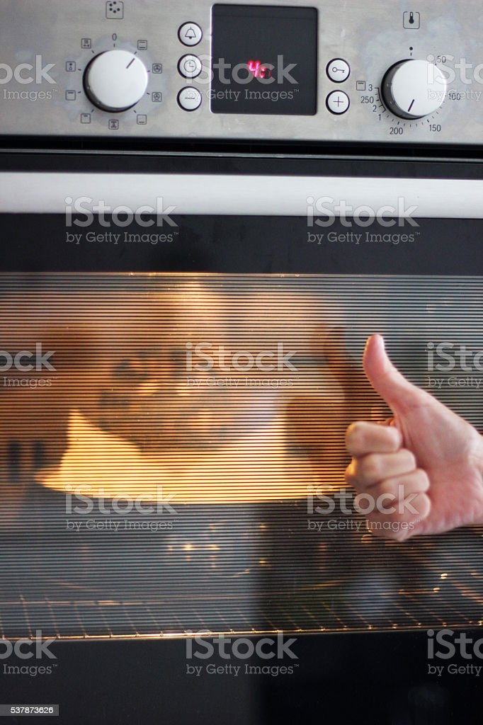 Happiness oven stock photo