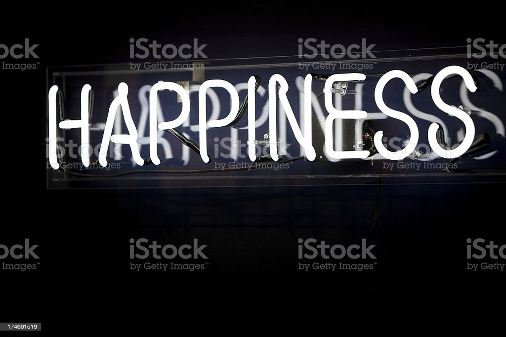 Happiness sign royalty-free stock photo